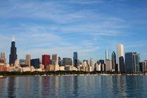 Die Spiegelung der Skyline von Chicago von ann-foto