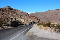 The lonely Street in Death Valley by ann-foto