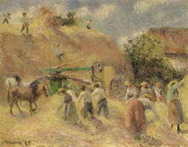 The Harvest von Camille Pissarro