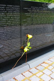 Ohne Worte ... Rose am Vietnam Veterans Memorial by ann-foto