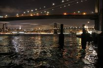 New York Skyline Big Apple mit Brooklyn Bridge bei Nacht von ann-foto