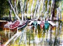 Boote warten von Irina Usova