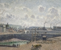 Low Tide at Duquesne Docks, Dieppe von Camille Pissarro