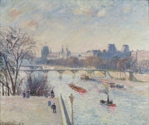 The Louvre by Camille Pissarro