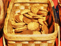Ginger Snap Cookies in Basket von Susan Savad