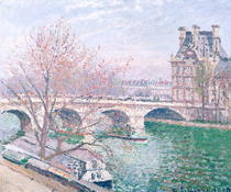 The Pont-Royal and the Pavillon de Flore by Camille Pissarro