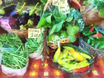 Farmer's Market - Peppers and String Beans von Susan Savad