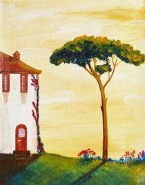 Toskana Pinien und Zypressen 1 von Christine Huwer