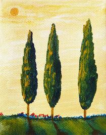 'Toskana Pinien und Zypressen 2' von Christine Huwer