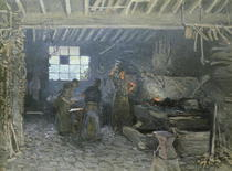 The Forge at Marly-le-Roi, Yvelines by Alfred Sisley