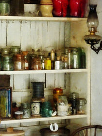 Hurricane Lamp in Pantry von Susan Savad