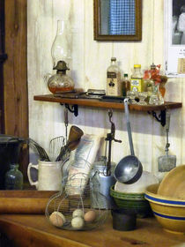 Kitchen With Wire Basket of Eggs by Susan Savad