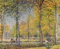 The Bois de Boulogne  by Alfred Sisley