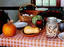 Baking a Squash and Pumpkin Pie by Susan Savad