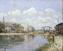 The Canal Saint-Martin, Paris by Alfred Sisley