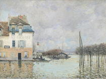 The Flood at Port-Marly von Alfred Sisley