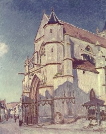 The Church at Moret von Alfred Sisley