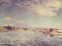 Saint-Mammes by Alfred Sisley