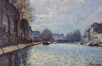 View of the Canal Saint-Martin, Paris von Alfred Sisley