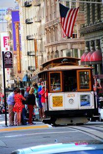 Rasante Fahrt im Cable Car San Francisco von ann-foto