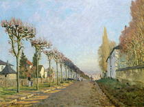 Rue de la Machine, Louveciennes by Alfred Sisley