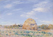 Haystack on the Banks of the Loing von Alfred Sisley