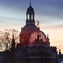Frauenkirche im Sonnenuntergang