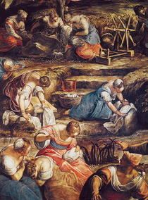 The Miraculous Fall of Manna by Jacopo Robusti Tintoretto