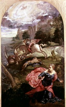 St.George and the Dragon  by Jacopo Robusti Tintoretto