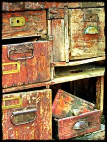 ~ Wooden Drawers ~ von Sandra  Vollmann