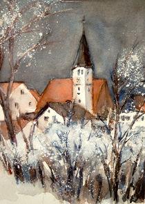 Winterliches Eggstetten - Kirche von Chris Berger