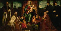 Doge Alvise Mocenigo and Family before the Madonna and Child von Jacopo Robusti Tintoretto