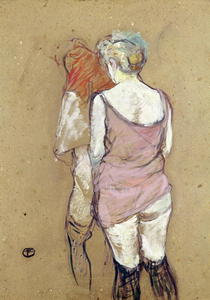 Two Semi-Nude Women at the Maison de la Rue des Moulins von Henri de Toulouse-Lautrec