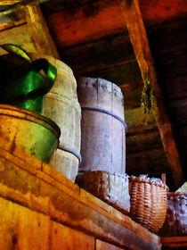 Baskets and Barrels in Attic von Susan Savad