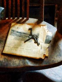 Antique Keys on Newspaper by Susan Savad