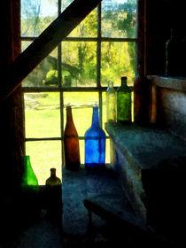 Colored Bottles On Steps von Susan Savad