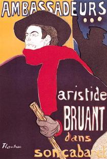 Poster advertising Aristide Bruant  by Henri de Toulouse-Lautrec