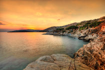 The sunset at Agios Kyprianos in Andros, Greece by Constantinos Iliopoulos
