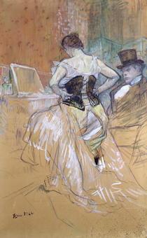 Woman at her Toilet, study for `Elles` von Henri de Toulouse-Lautrec