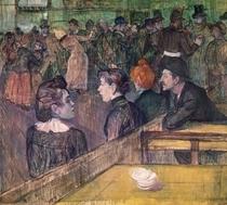 At the Moulin de la Galette by Henri de Toulouse-Lautrec