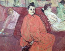 The Divan by Henri de Toulouse-Lautrec