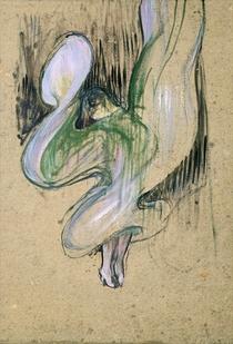 Study for Loie Fuller  von Henri de Toulouse-Lautrec