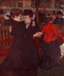 At the Moulin Rouge: The Two Waltzers von Henri de Toulouse-Lautrec