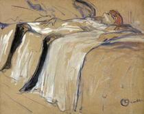Woman lying on her Back - Lassitude, study for `Elles` von Henri de Toulouse-Lautrec