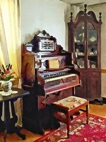 Organ in Victorian Parlor With Vase by Susan Savad