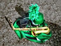Saxophone and Band Uniform von Susan Savad