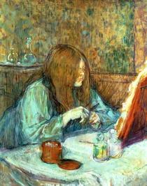 Madame Poupoule at her Toilet von Henri de Toulouse-Lautrec