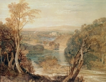 The River Wharfe with a distant view of Barden Tower von Joseph Mallord William Turner