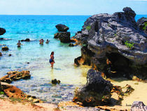 Bathing in the Ocean St. George Bermuda by Susan Savad