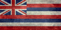 State Flag of Hawaii,  retro style vintage 1-2 scale version von Bruce Stanfield
